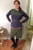 blue Cloth Logic sweater - purple Target shirt - green Target skirt - blue Targe