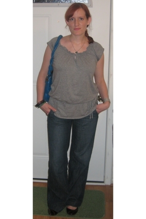 Gap blouse - Gap jeans - Nine West accessories - Target shoes