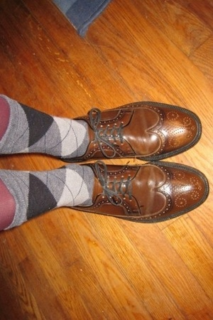 thrifted shoes - Gap socks