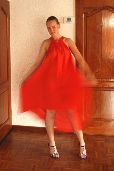 blue lk bennett heels carrot orange lyocell the conscious