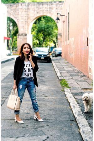 Zara jeans - Forever 21 t-shirt - Zara pumps
