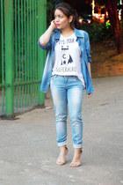 pull&bear t-shirt - Zara heels