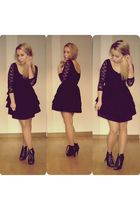 black H&M dress - black H&M shoes