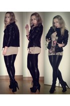 noname boots - c&a jacket - Tally Weijl leggings - Tally Weijl necklace - Tally