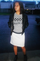skirt - t-shirt - Mango jacket - boots - H&M belt