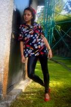 blouse - Zara leggings - shoes - accessories - blazer