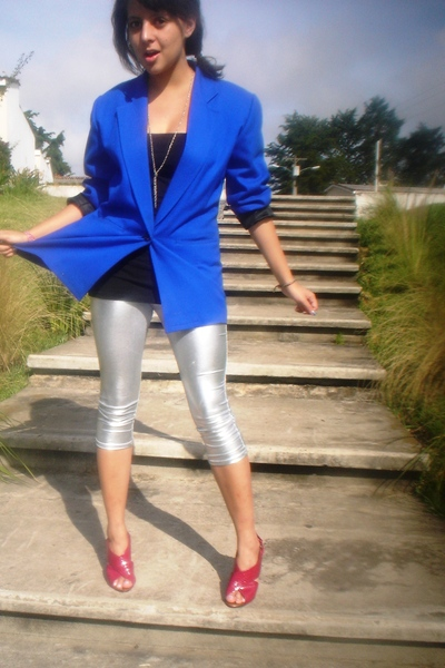 Bershka leggings - top - blazer - - shoes