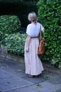 White-acne-top-eggshell-vintage-skirt