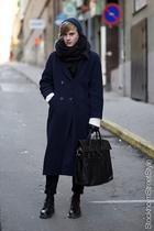 Filippa K hat - vintage coat - Dr Martens shoes