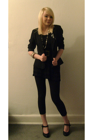 blazer - bracelet - H&M dress - Topshop leggings