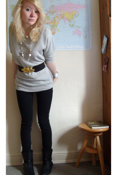 vintage from Ebay boots - sweater - jeans