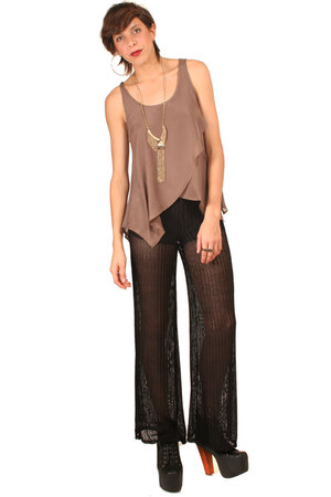 black gypsy warrior pants - gold gypsy warrior necklace