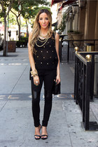 gold AUTE & REBELLIOUS necklace - black AUTE & REBELLIOUS leggings