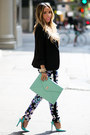 Black-haute-rebellious-blazer-aquamarine-haute-rebellious-bag