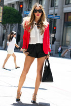 black HAUTE & REBELLIOUS bag - red HAUTE & REBELLIOUS blazer