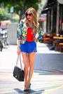 Floral-print-haute-rebellious-blazer-chanel-bag