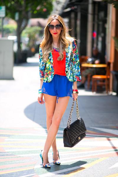 floral print HAUTE & REBELLIOUS blazer - Chanel bag