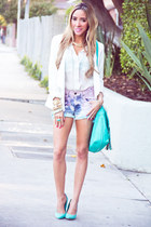 aquamarine mint HAUTE & REBELLIOUS shoes - white HAUTE & REBELLIOUS blazer