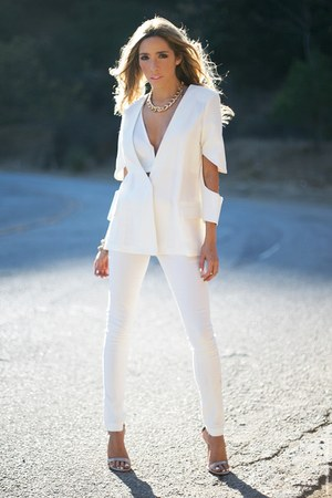 white HAUTE & REBELLIOUS blazer - white HAUTE & REBELLIOUS pants