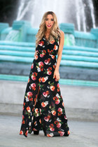 black floral print HAUTE & REBELLIOUS dress