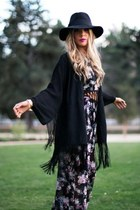 black floppy hat HAUTE & REBELLIOUS hat - amethyst HAUTE & REBELLIOUS jumper