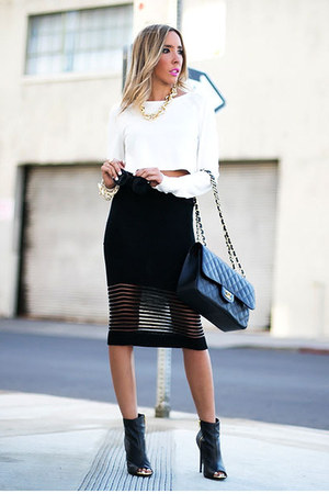black pencil wool HAUTE & REBELLIOUS skirt