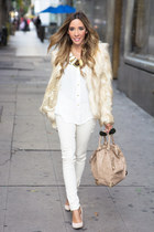 white HAUTE & REBELLIOUS shirt - cream HAUTE & REBELLIOUS coat