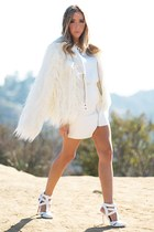 white HAUTE & REBELLIOUS coat - white HAUTE & REBELLIOUS heels