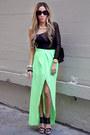 Chartreuse-chiffon-haute-rebellious-skirt