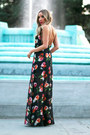 Black-floral-print-haute-rebellious-dress