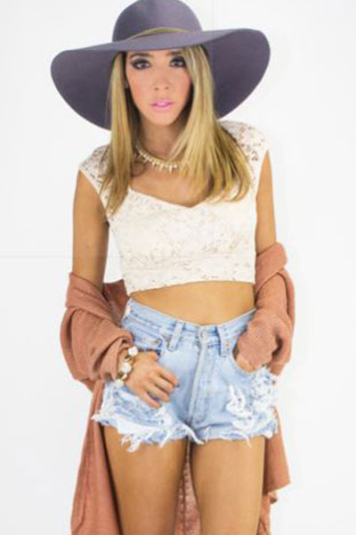 crop top HAUTE & REBELLIOUS top
