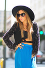 Black-vintage-vintage-hat-black-beaded-crop-haute-rebellious-blazer
