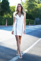 white HAUTE & REBELLIOUS dress - beige HAUTE & REBELLIOUS heels