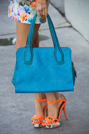 carrot orange neon orange HAUTE & REBELLIOUS heels