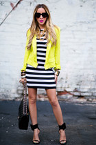 HAUTE & REBELLIOUS blazer - HAUTE & REBELLIOUS dress - Chanel bag