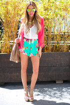 tan HAUTE & REBELLIOUS bag - hot pink comfort fit HAUTE & REBELLIOUS blazer