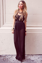 black chiffon HAUTE & REBELLIOUS dress