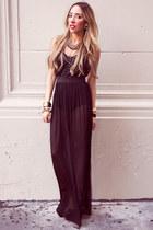 black chiffon HAUTE & REBELLIOUS dress