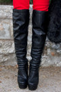 Black-haute-rebellious-boots-black-black-boho-hat-haute-rebellious-hat