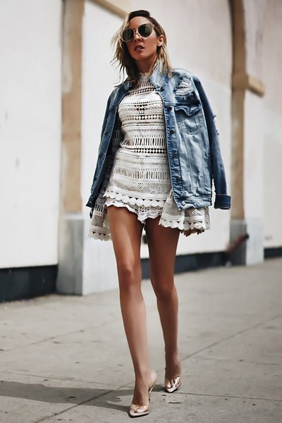 light blue denim jacket HAUTE & REBELLIOUS jacket