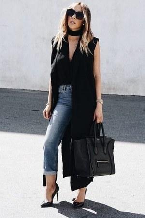 vest HAUTE & REBELLIOUS vest - hand bag Yves Saint Laurent bag
