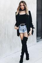 black HAUTE & REBELLIOUS blazer - levi HAUTE & REBELLIOUS shorts
