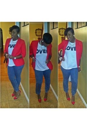 ruby red H&M blazer
