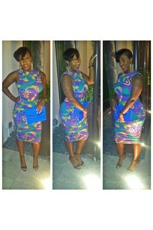 gold midi dress Nasty Gal dress