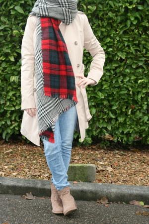H & M cardigan - ankle boots van haren boots - Takko fashion coat