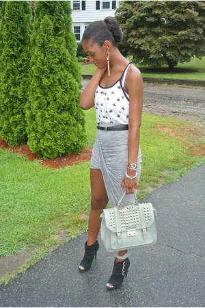 skirt - Steve Madden shoes - Arden B bag - D&G watch