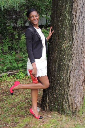 Shoedazzle shoes - H&M dress - H&M blazer - liu jo purse - JewelMint bracelet