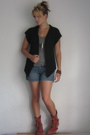 Diesel shoes - Mossimo sweater - Forever 21 shorts