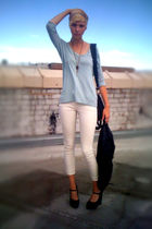 black Forever21 shoes - white Forever21 jeans - blue Forever21 shirt - black For