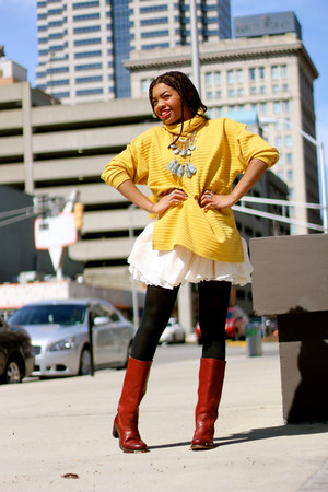 new york brand sweater - red thick heels fyre company boots